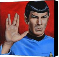 Science Fiction Canvas Prints - Vulcan Farewell Canvas Print by Kim Lockman