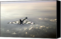 Warbird Photo Canvas Prints - Vulcan over the Channel Canvas Print by Gary Eason