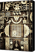 Usa Special Promotions - Vulcan Steel Steampunk Canvas Print by Kathy Clark
