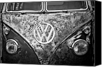 Vw Camper Van Digital Art Canvas Prints - VW Camper Canvas Print by Martin  Fry