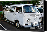 Campervan Canvas Prints - VW Camper Canvas Print by Paul Ward