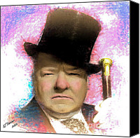 Arne J Hansen Canvas Prints - W C Fields Canvas Print by Arne Hansen