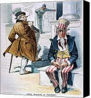 The White House Canvas Prints - W. Mckinley Cartoon, 1896 Canvas Print by Granger
