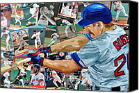 Red Sox Mixed Media Canvas Prints - Wade Boggs Canvas Print by Michael Lee