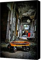 Abandoned Structures Canvas Prints - Wagon Of Past Canvas Print by Emily Stauring