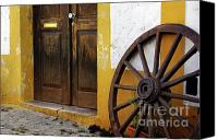 Carriage Canvas Prints - Wagon Wheel Canvas Print by Carlos Caetano