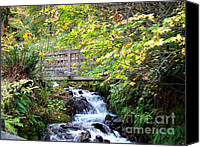 Wahkeena Creek Canvas Prints - Wahkeena Creek Bridge Canvas Print by Charles Robinson