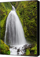 Wahkeena Creek Canvas Prints - Wahkeena Falls Canvas Print by Loree Johnson