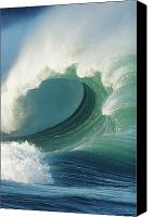 Water Art Canvas Prints - Waimea Bay Shorebreak Canvas Print by Vince Cavataio - Printscapes