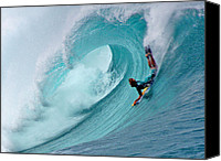 Boogie Canvas Prints - Waimea Bodyboarder Canvas Print by Kevin Smith