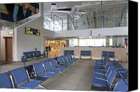 Airport Concourse Canvas Prints - Waiting Area at an Airport Gate Canvas Print by Jaak Nilson