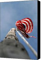 Flag Pole Canvas Prints - Waiting For A Breeze Canvas Print by Rick  Monyahan