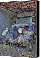 Woody Canvas Prints - Waiting for a Part Canvas Print by Jim Dohms