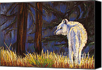 Wolf Pastels Canvas Prints - Waiting for the Pack Canvas Print by Harriet Peck Taylor