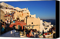View Canvas Prints - Waiting for the sunset in Santorini island Canvas Print by George Atsametakis