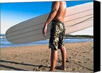 Featured Canvas Prints - Waiting for the Surf Canvas Print by Jim DeLillo