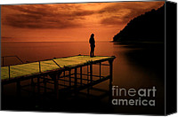 Long Pyrography Canvas Prints - Waiting For What Canvas Print by Zafer GUDER