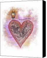 Hearts Canvas Prints - Waiting For You Canvas Print by Samantha Lockwood