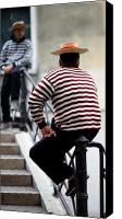 Gondoliers Canvas Prints - Waiting Gondoliers Canvas Print by Neil Buchan-Grant