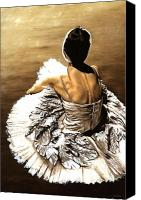 Ballet Canvas Prints - Waiting in the Wings Canvas Print by Richard Young