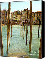 Old Buildings Canvas Prints - Waiting in Venice Canvas Print by Julie Palencia