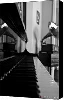 Piano Canvas Prints - Waiting Canvas Print by Jonathan Ellis Keys
