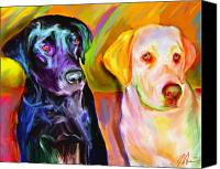 Dogs Canvas Prints - Waiting Canvas Print by Karen Derrico