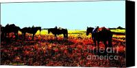 Montana Digital Art Canvas Prints - Waiting ... Montana Art Photo Canvas Print by GiselaSchneider MontanaArtist