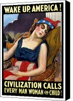 First Lady Digital Art Canvas Prints - Wake Up America Civilization Calls Canvas Print by War Is Hell Store