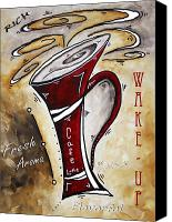 Red Crimson Canvas Prints - Wake Up Call by MADART Canvas Print by Megan Duncanson