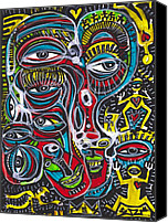 Neo Expressionism Canvas Prints - Waking From A Dream Canvas Print by Robert Wolverton Jr