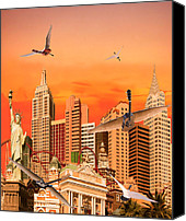 Rocks Canvas Prints - Waking Up In Las Vegas Rocks Canvas Print by Eric Kempson