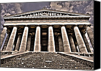 1842 Canvas Prints - Walhalla ... Canvas Print by Juergen Weiss