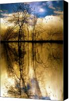 Spiritual Photo Canvas Prints - Walk Along The River Canvas Print by Bob Orsillo
