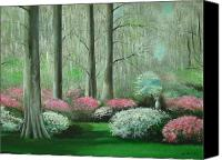 Augusta Golf Painting Canvas Prints - Walking In The Garden Canvas Print by Charles Roy Smith