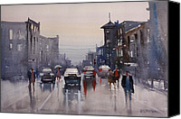 Ryan Radke Canvas Prints - Walking in the Rain Canvas Print by Ryan Radke