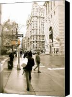 City Streets Photo Canvas Prints - Walking New York Canvas Print by Michael Peychich