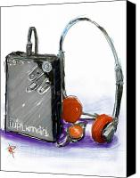1980s Canvas Prints - Walkman Canvas Print by Russell Pierce