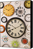 Minutes Photo Canvas Prints - Wall Clocks Canvas Print by Garry Gay