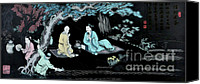 Asian Art Canvas Prints - Wall Mural in Qibao - Shanghai - China Canvas Print by Christine Till
