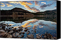 Rocky Mountains Canvas Prints - Wall Reflection Canvas Print by Chad Dutson