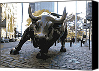 Nyc Canvas Prints - Wall Street Bull Color 16 Canvas Print by Scott Kelley