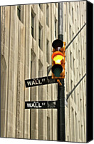 Guidance Canvas Prints - Wall Street Traffic Light Canvas Print by Oonat