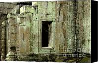 Peace Pyrography Canvas Prints - Wall Ta Prohm Canvas Print by Bob Christopher