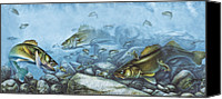 Reef Canvas Prints - Walleye Reef Canvas Print by JQ Licensing