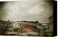 Dubrovnik Canvas Prints - Walls of Dubrovnik Canvas Print by Madeline Ellis