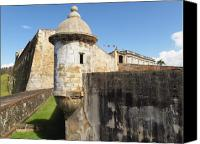 Old San Juan Canvas Prints - Walls of San Cristobal Fort San Juan Puerto Rico  Canvas Print by George Oze