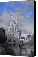 Castle Pyrography Canvas Prints - Walt Disney World - Cinderella Castle Canvas Print by AK Photography