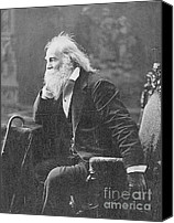 Photo-realism Photo Canvas Prints - Walt Whitman, American Poet Canvas Print by Photo Researchers
