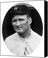 Baseball Players Canvas Prints - Walter Johnson - Washington Senators Baseball Player Canvas Print by International  Images